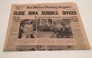 The Moines Iowa Des Sunday Register November 24 1963 Close Schools Kennedy Pages