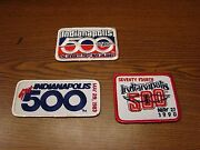 Lot Of 3 Indianapolis 500 Vintage Patches Racing New Old Stock