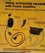 Sears Voice Activated Headset With Power Amplifier Cb Radio