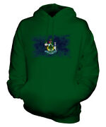 Maine State Distressed Flag Unisex Hoodie Top Mainer Jersey Gift