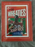 Jerry Rice Autographed Wheaties Cereal Box San Francisco 49ers Suede Mat Jsa