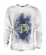Maine State Faded Flag Unisex Sweater Top Mainer Shirt Jersey Gift