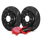 For Ford Mustang 15-18 Brake Kit Ebc Stage 4 Signature Slotted Front Brake Kit W