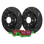 For Ford E-250 Econoline 95-00 Brake Kit Ebc Stage 4 Signature Slotted Front