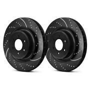 For Cadillac Xt5 17-18 Brake Rotors Ebc 3gd Series Sport Dimpled And Slotted
