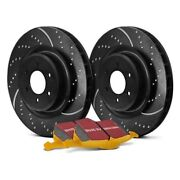 For Ford Mustang 15-18 Brake Kit Ebc Stage 5 Super Street Dimpled And Slotted