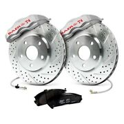 For Lincoln Continental 65-69 Baer Track4 Drilled And Slotted Front Brake System