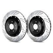 For Cadillac Xlr 06-09 Eradispeed+1 Drilled And Slotted 2-piece Rear Brake Rotors