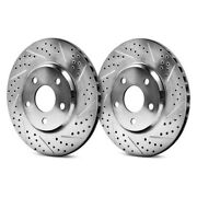 For Ford F-150 04-08 Eradispeed1 Drilled And Slotted 1-piece Front Brake Rotors
