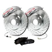 For Chevy Camaro 82-92 Baer 4301403s Track4 Drilled And Slotted Front Brake System