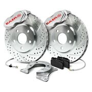 For Dodge Challenger 1970 Baer 4142050s Ss4 Drilled And Slotted Rear Brake System