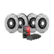 For Honda Civic 06-11 Street Drilled And Slotted 1-piece Front And Rear Brake Kit