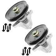 2 Spindle Assembly W/pulley Bolt For Troy Bilt Mtd 918-06991 618-06991