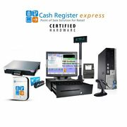 Pcamerica Pos Complete System 1 Station W/pole Display And Scale - I3, 4gb Ram