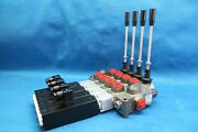 New Hydraulic Bank Motor 4 Spool Valves 120 L/min Electric 12v + Lever Galtech
