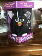 Furby Electronic Figure New In Box Tiger Co. Black Lavender Ears 1998