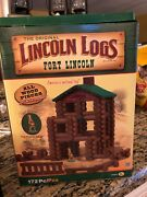 Lincoln Logs Fort Lincoln - 345 Pieces - Open Box - W/o Die-cast Figure
