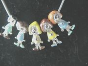 Necklace W/5 Little Brownies W/heart Girl Scout Charms Chain Collector Gift