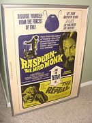 Monster Movie Poster Orig 1966 Rasputin The Mad Monk The Reptile Double Feature