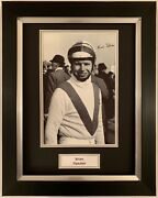 Brian Fletcher Hand Signed Framed Photo Display Horse Racing Red Rum.