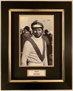 Brian Fletcher Hand Signed Framed Photo Display Horse Racing Red Rum 3.