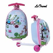 Kids Rolling Luggage Casters Wheels Suitcase For Children Trolley Bag