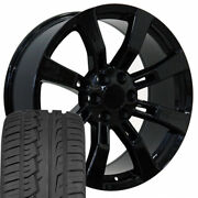 22in Black 5409 Wheels And 285/45r22 Tires Fit Cadillac Escalade Yukon Tahoe