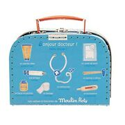 Moulin Roty Children's Doctor Valise Medical Play Set By Magic Forest