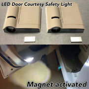 1 Pair Door Step Courtesy Welcome Laser Wireless Shadow Led Light B1 For Alfa