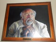 Jim Harrison Noted Author Of Legends Of The Fall And Many Others. Oil On Canva