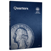 2 Whitman Coin Folders Mix/ 9044 For Collection Of Quarters Plain 43 Blank Slots