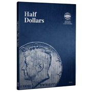 2 Whitman Coin Folders 9045 For Collection Of Half Dollars Plain 36 Blank Slots