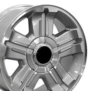 18x8 Rims Fit Gm Chevy Truck Z71 Style Silver Mach'd Wheel 5300 Set Of 4