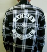 New Avenged Sevenfold Grey Flannel Shirt Menand039s Sizes