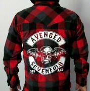 New Avenged Sevenfold Red Flannel Shirt Menand039s Sizes