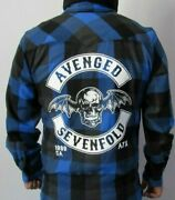New Avenged Sevenfold Blue Flannel Shirt Menand039s Sizes