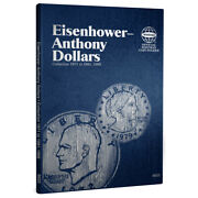 2 Whitman Coin Folders 9023 Collection Of Eisenhower/anthony Dollars 1971-1999