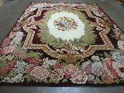 8and039 X 10and039 Vintage Hand Made French Savonnerie Versailles Wool Rug Beauty 579