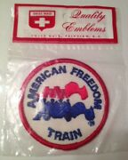 Nos Vintage 1971 American Freedom Train Patch Lionel - Swiss Maid Fairview, Nj
