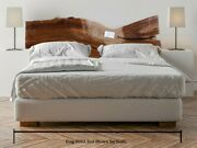 Natural Wood Slab Headboard Live Edge Wooden Rustic Diy Tree Slice Custom 6110a4