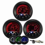 Prosport 52mm Evo Wideband Air Fuel Ratio And Boost And Water Temperature Gauge Kit