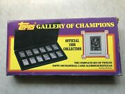 Topps 1988 Aluminum Official Collection Baseball Cards