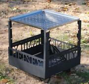 Fire Pit Customized Removable Fork Stands And Stainless Grill Plate Shipping