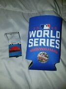 2016 Chicago Cubs World Series Media Press Pin W/ Free Cup Holder Mint Rare