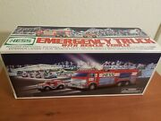 2005 Hess Emergency Truck With Rescue Vehicle Toy Fire Truck In Original Box,