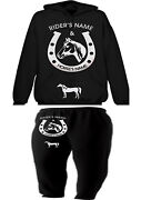 Horse And Rider Hoodie And Bottoms Set Personalised Showing Equestrain Xmas Gift
