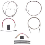 Stainless +10 Clutch Brake Line Mstr Kit 2008-2013 Harley Touring Cvo Abs