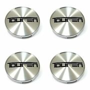 4x Touren Machined Silver Snap In Wheel Center Hub Caps For Tr73 3273