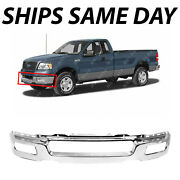 New Chrome Steel Front Bumper Face Bar Shell For 2004 2005 2006 Ford F150 F-150
