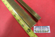 2 Pieces 1/2 X 1 C360 Brass Flat Bar 36 Long Solid .50 Mill Stock H02